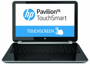 best touchscreen laptop - HP Pavilion Touchsmart 15