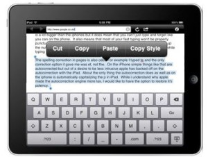 ipad copy tips