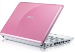 Pink Laptops - MSI Wind U100-427