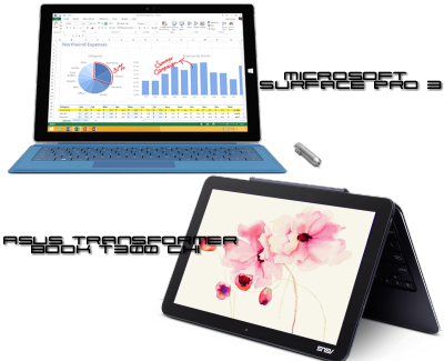 Asus Transformer book T300 Chi vs Microsoft Surface Pro 3