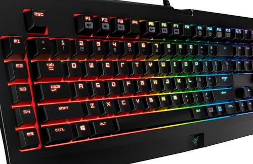 best mechanical gaming keyboard - RAZER BLACKWIDOW CHROMA side