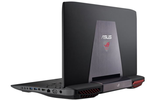 Asus G751JY review - back