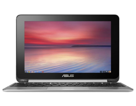 asus chromebook c100p flip review - front