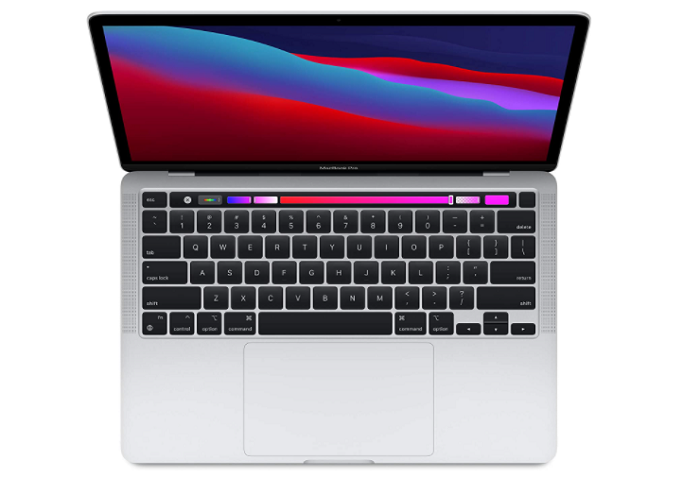 apple macbook pro with m1 chip top view