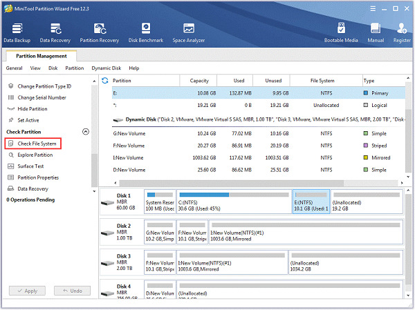 Run CHKDSK on Windows2